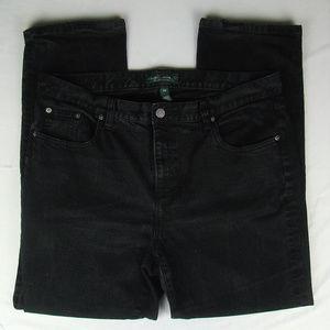LRL Lauren Ralph Lauren Black Jeans 16W Classic